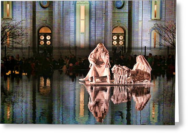 Salt Lake Temple - 2 Greeting Card by Ely Arsha