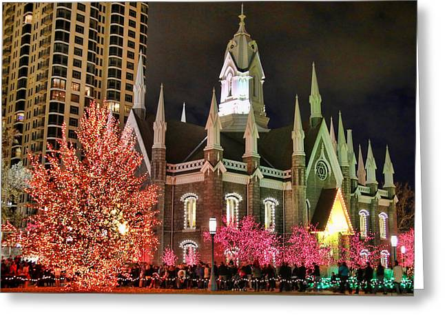 Salt Lake Temple - 3 Greeting Card by Ely Arsha