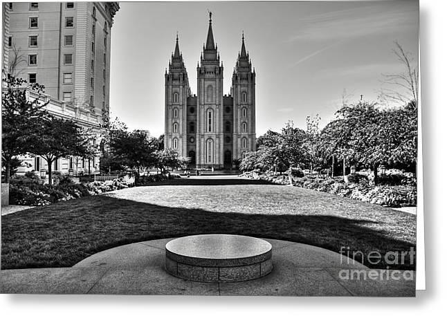 Salt Lake Temple - Utah - North America  Greeting Card by Aidan Moran