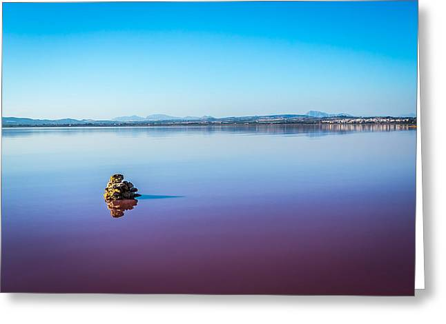 Salt Lake Torrevieja. Greeting Card