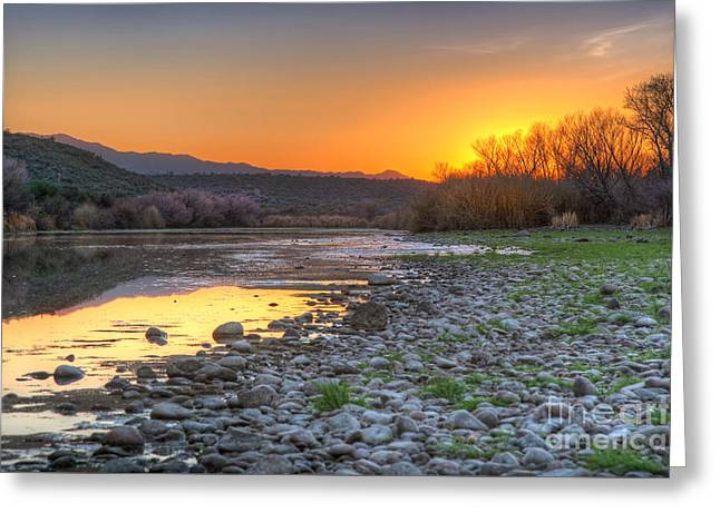 Salt River Bulldog Canyon Greeting Card