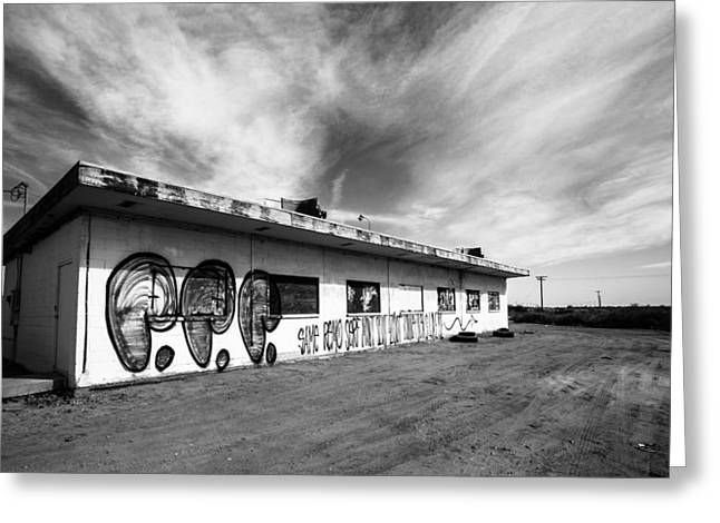 Salton Sea Cafe Greeting Card by Robert  Aycock