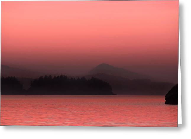 Saltspring Island Sunset Greeting Card by Kasandra Sproson