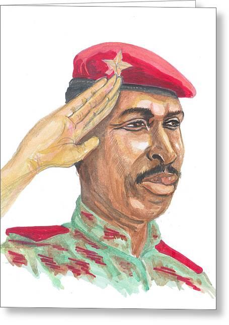Salut Militaire Greeting Card by Emmanuel Baliyanga