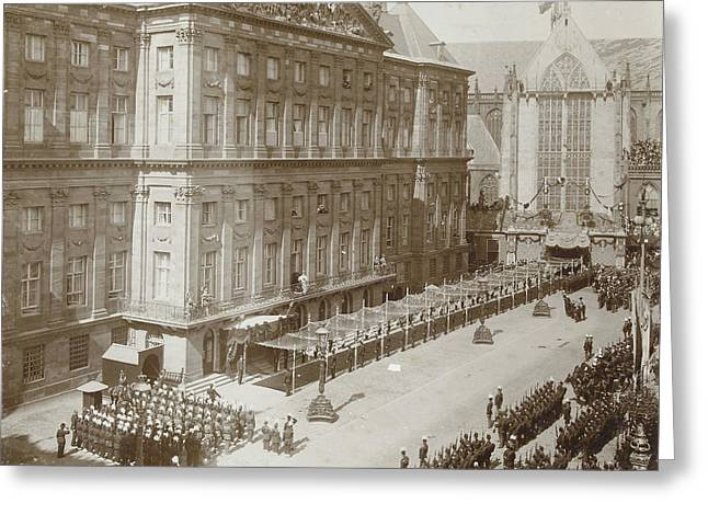 Salute Queen Wilhelmina After Its Inauguration Greeting Card