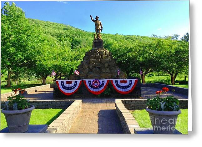 Greeting Card featuring the photograph Salute To Our Hero's  by Becky Lupe