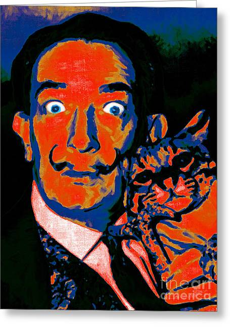 Salvador Dali And Friend 20130212v1 Greeting Card by Wingsdomain Art and Photography