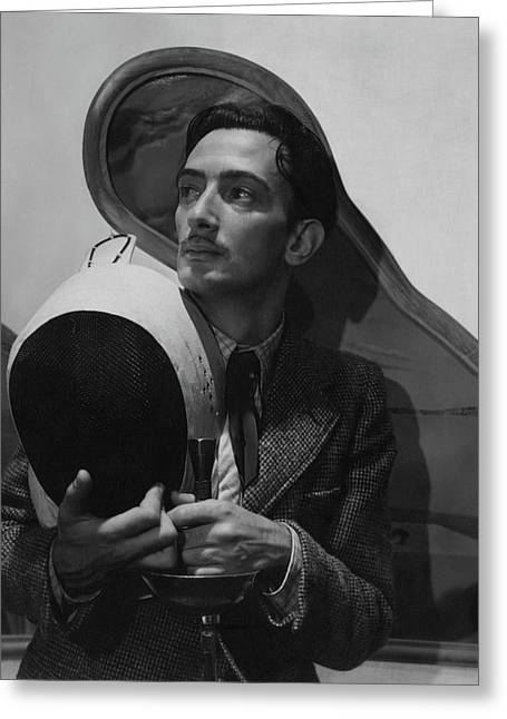 Salvador Dali Holding Fencing Equipment Greeting Card by Cecil Beaton