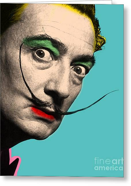 Salvador Dali Greeting Card by Mark Ashkenazi