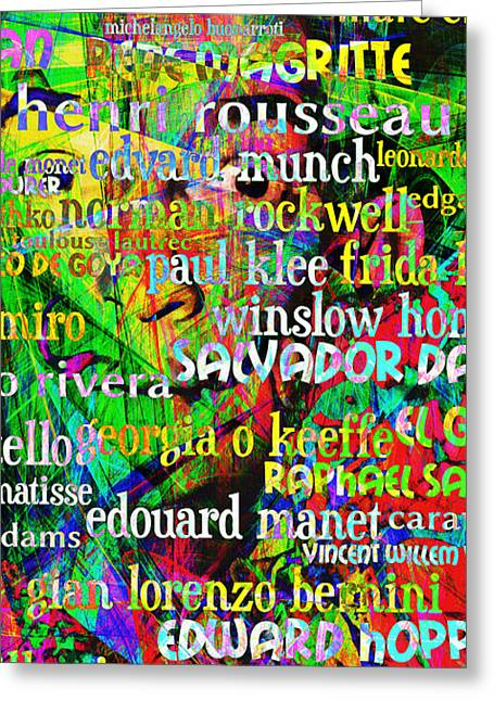 Salvador Dali Masters Of Art 20130625 Long Greeting Card