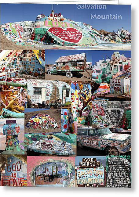Salvation Mountain Greeting Card