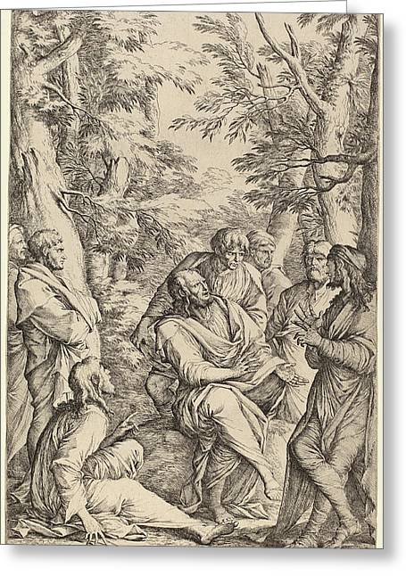 Salvator Rosa Italian, 1615 - 1673, The Academy Of Plato Greeting Card