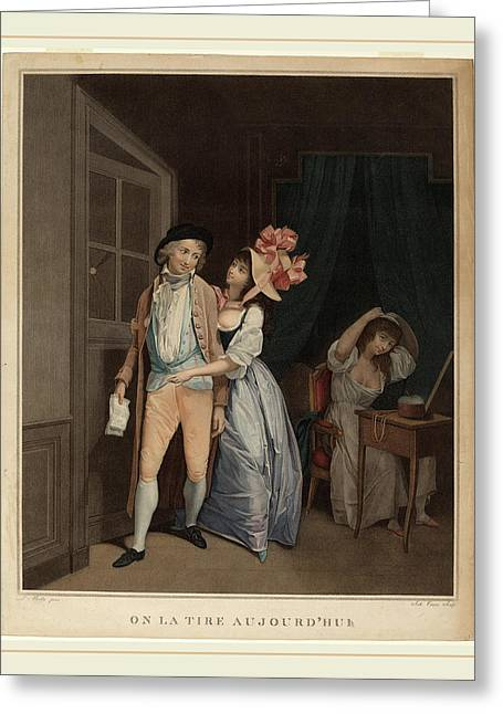 Salvatore Tresca After Louis-léopold Boilly Italian Greeting Card
