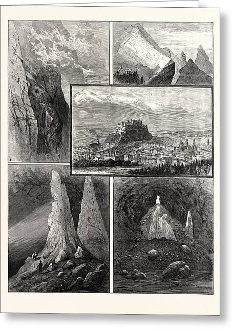Salzburg And Its Mountain Scenery 1. Path On The Geiereck Greeting Card