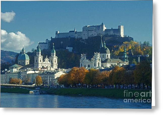 Salzburg Austria In Fall Greeting Card