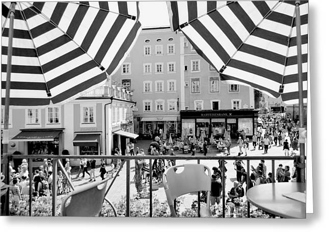 Greeting Card featuring the photograph Salzburg Shade by Marty  Cobcroft