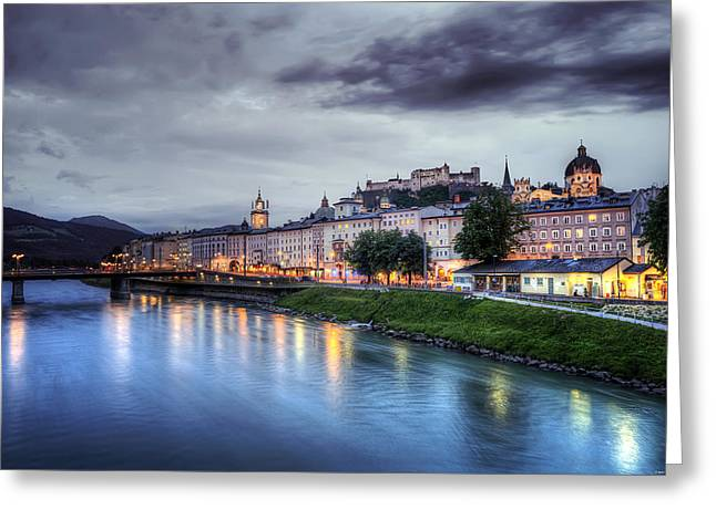 Salzburg Sunset Greeting Card