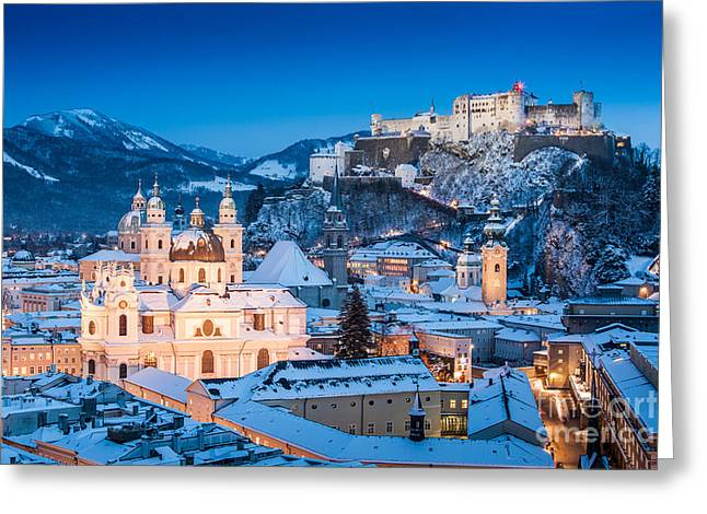 Salzburg Winter Romance Greeting Card by JR Photography