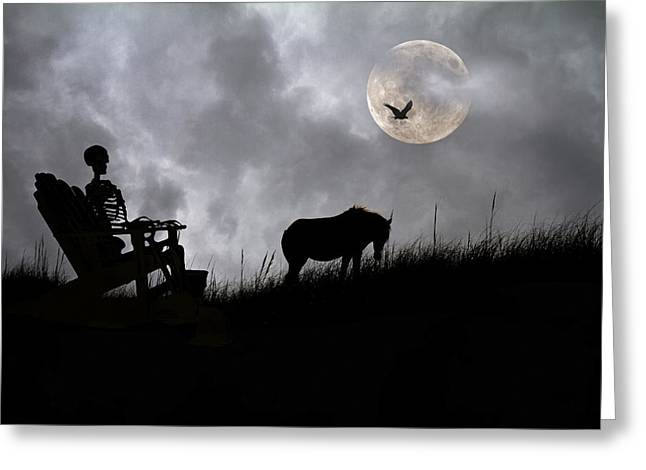 Sam And The Night Watch Greeting Card by Betsy Knapp