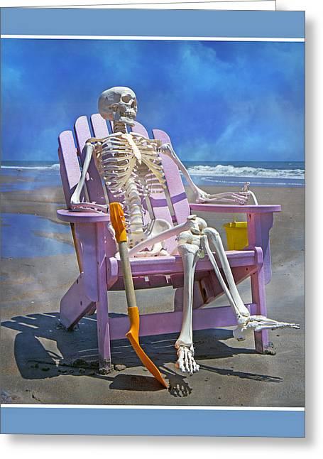 Sam Enjoys The Beach -- Again Greeting Card