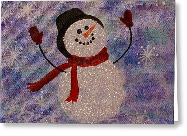 Sam The Snowman Greeting Card by Jane Chesnut