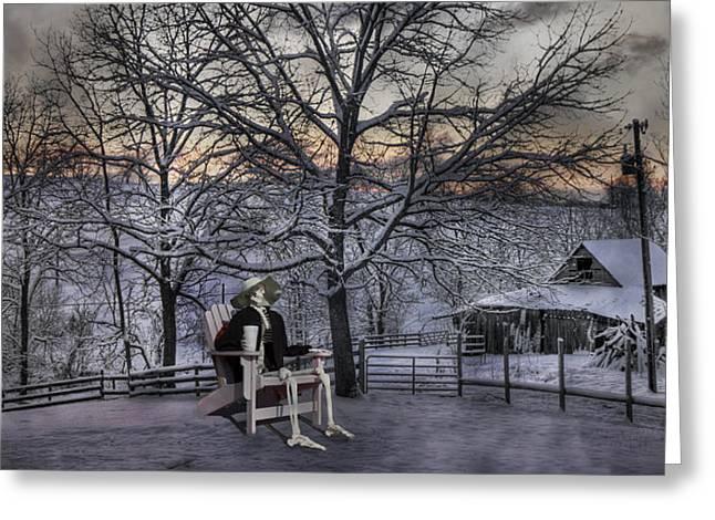 Sam Visits Winter Wonderland Greeting Card by Betsy Knapp