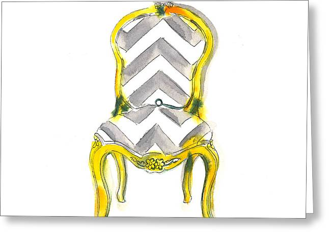 Samantha Chevron Chair Greeting Card