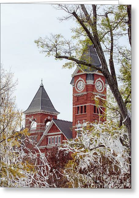 Samford Hall Vii Greeting Card by Victoria Lawrence