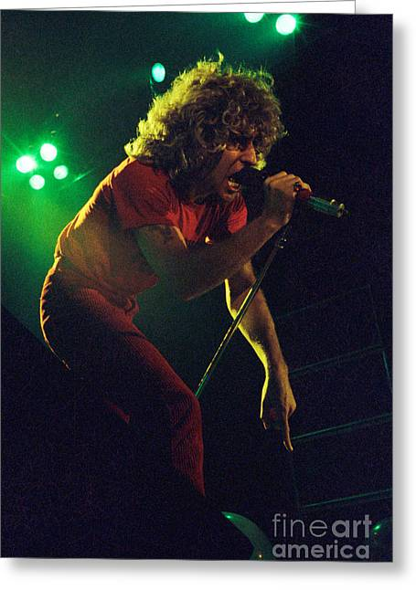 Sammy Hagar New Years Eve At The Cow Palace 12-31-78 Greeting Card