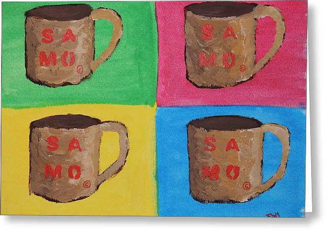 Samo Mug Greeting Card