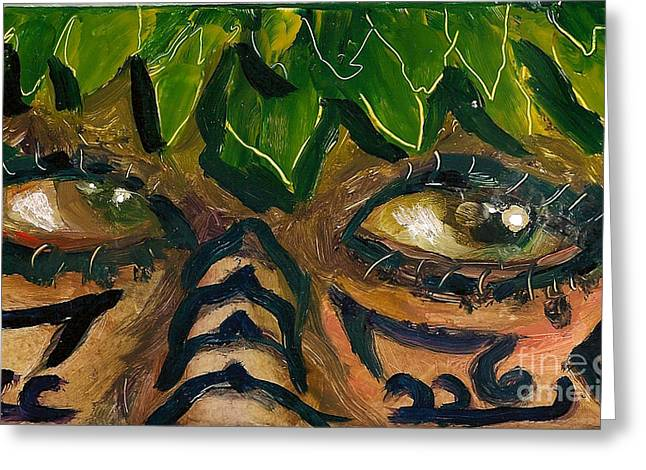 Samoan Eyes Greeting Card