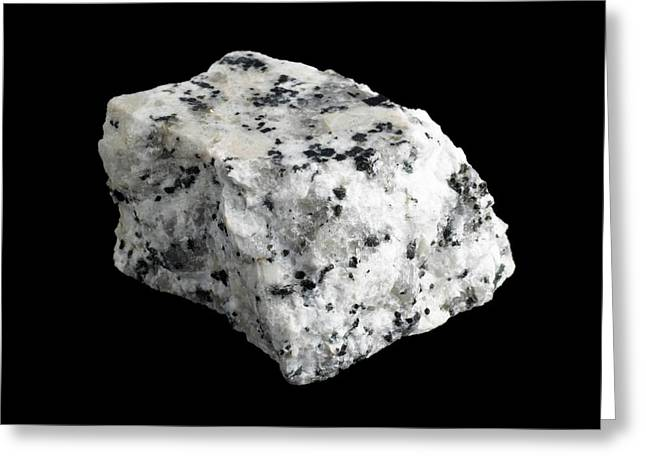 Sample Of Granite Greeting Card by Science Photo Library