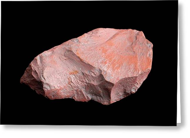 Sample Of Haematite Greeting Card by Science Photo Library