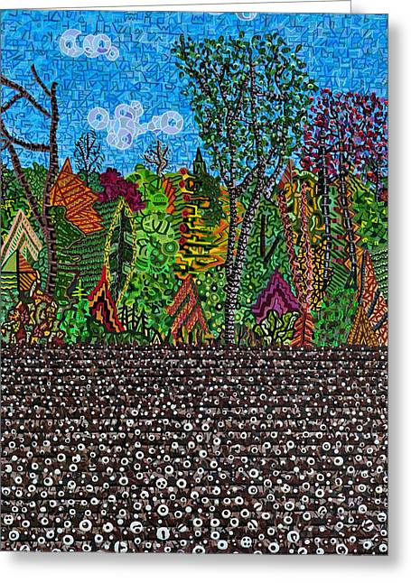 Sampson County Cotton Field Greeting Card by Micah Mullen