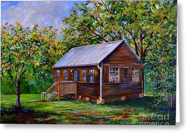 Sams Cabin Greeting Card by AnnaJo Vahle