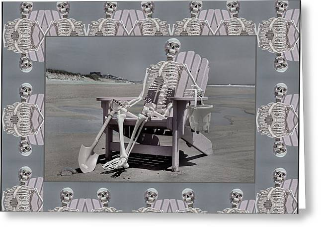 Sam's Humerus Office Wall Decor Greeting Card by Betsy Knapp