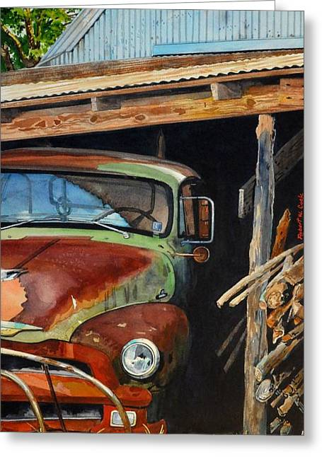 Sams Truck Greeting Card by Robert W Cook