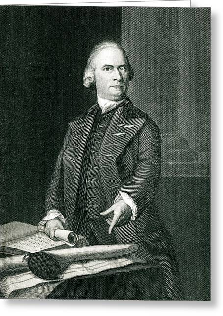 Samuel Adams  American Revolutionary Greeting Card by Mary Evans Picture Library