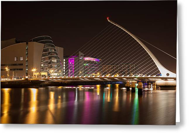 Samuel Beckett Bridge In Dublin City Greeting Card by Semmick Photo