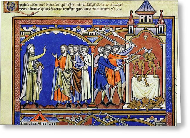 Samuel Exhorts Israelites Greeting Card by Granger