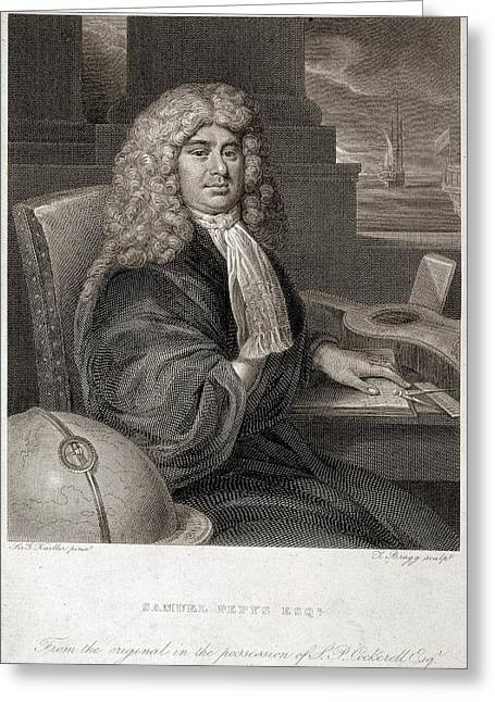 Samuel Pepys Greeting Card by British Library