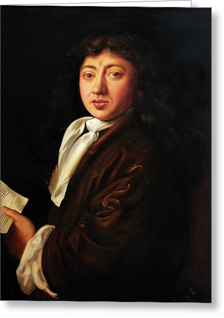 Samuel Pepys By Melicent S Grose Greeting Card by Bodleian Museum/oxford University Images