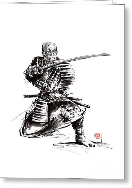 Samurai Art Print  Samurai Sword  Japan Poster  Japan Photography Japan Style Japan Wall Decor  Samu Greeting Card