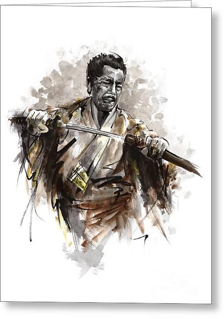 Samurai Warrior. Greeting Card