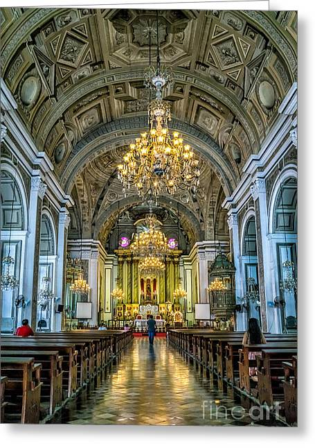 San Agustin Church  Greeting Card by Adrian Evans