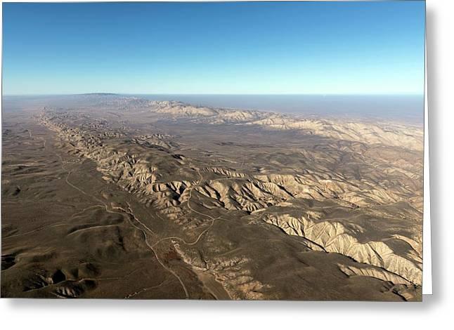San Andreas Fault Greeting Card