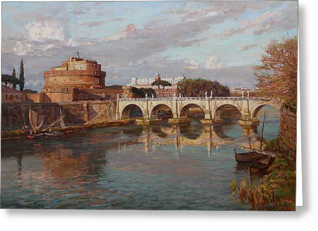 San-angelo Castle Greeting Card by Korobkin Anatoly
