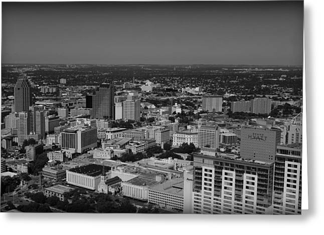 San Antonio - Bw Greeting Card