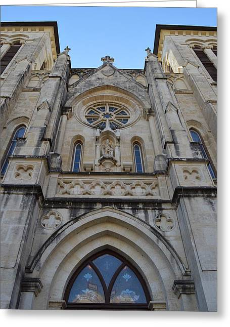 San Antonio Church 02 Greeting Card by Shawn Marlow