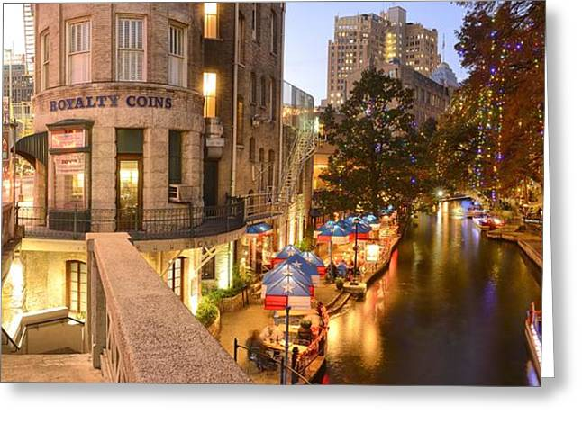 San Antonio Cityscape Greeting Card by Christian Heeb